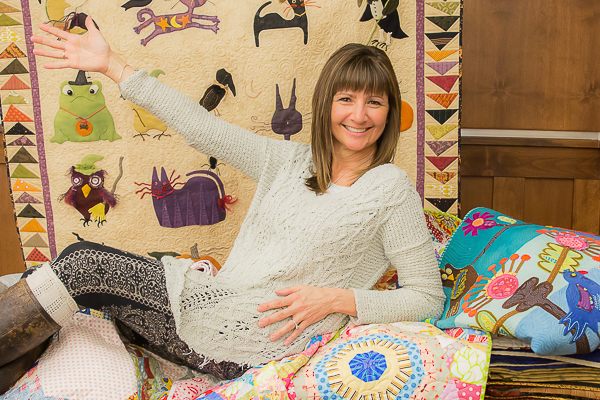 Lisa on quilts (1 of 1)